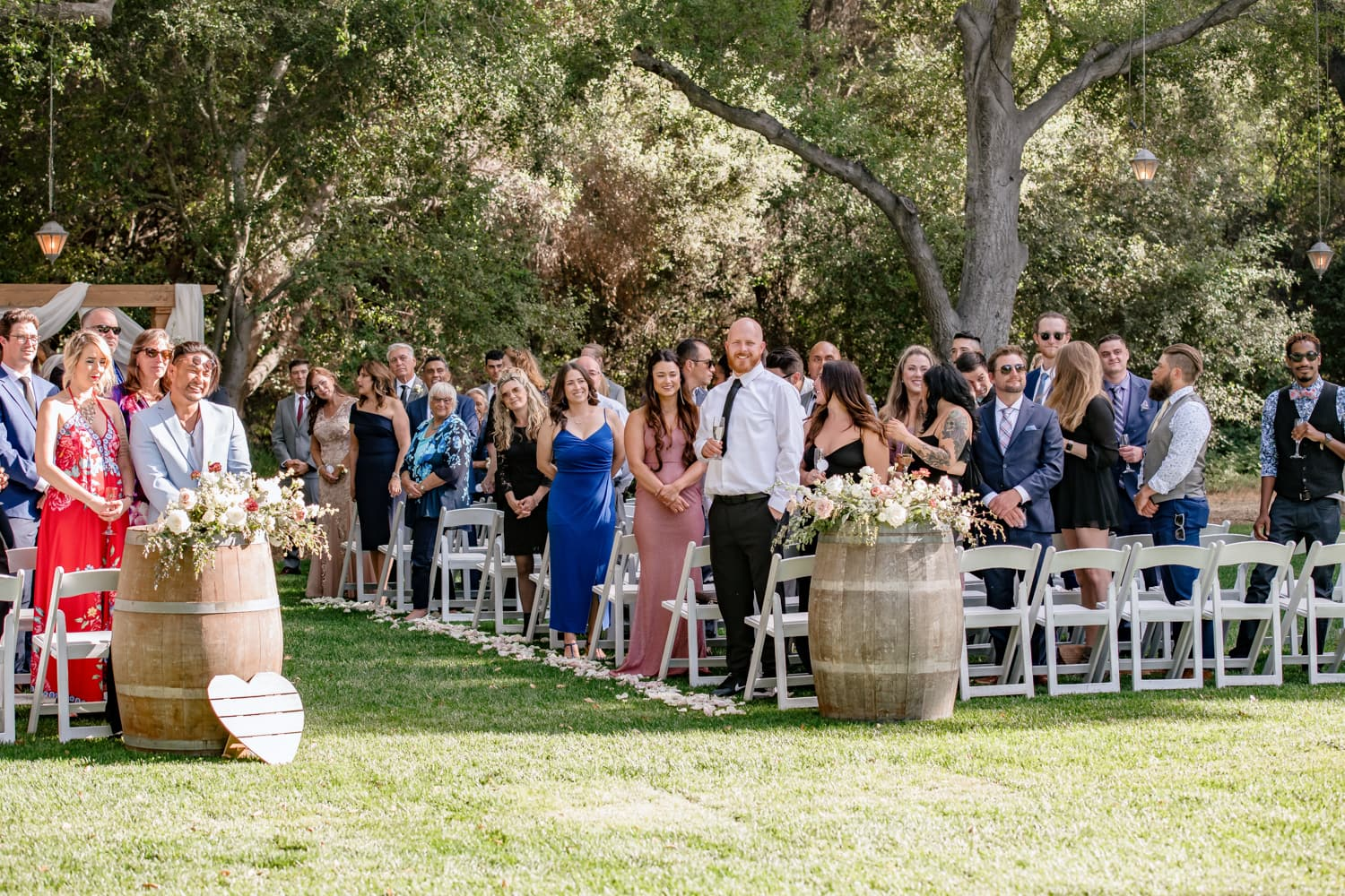 Wedding guests at The Stone House ceremony in Temecula, CA