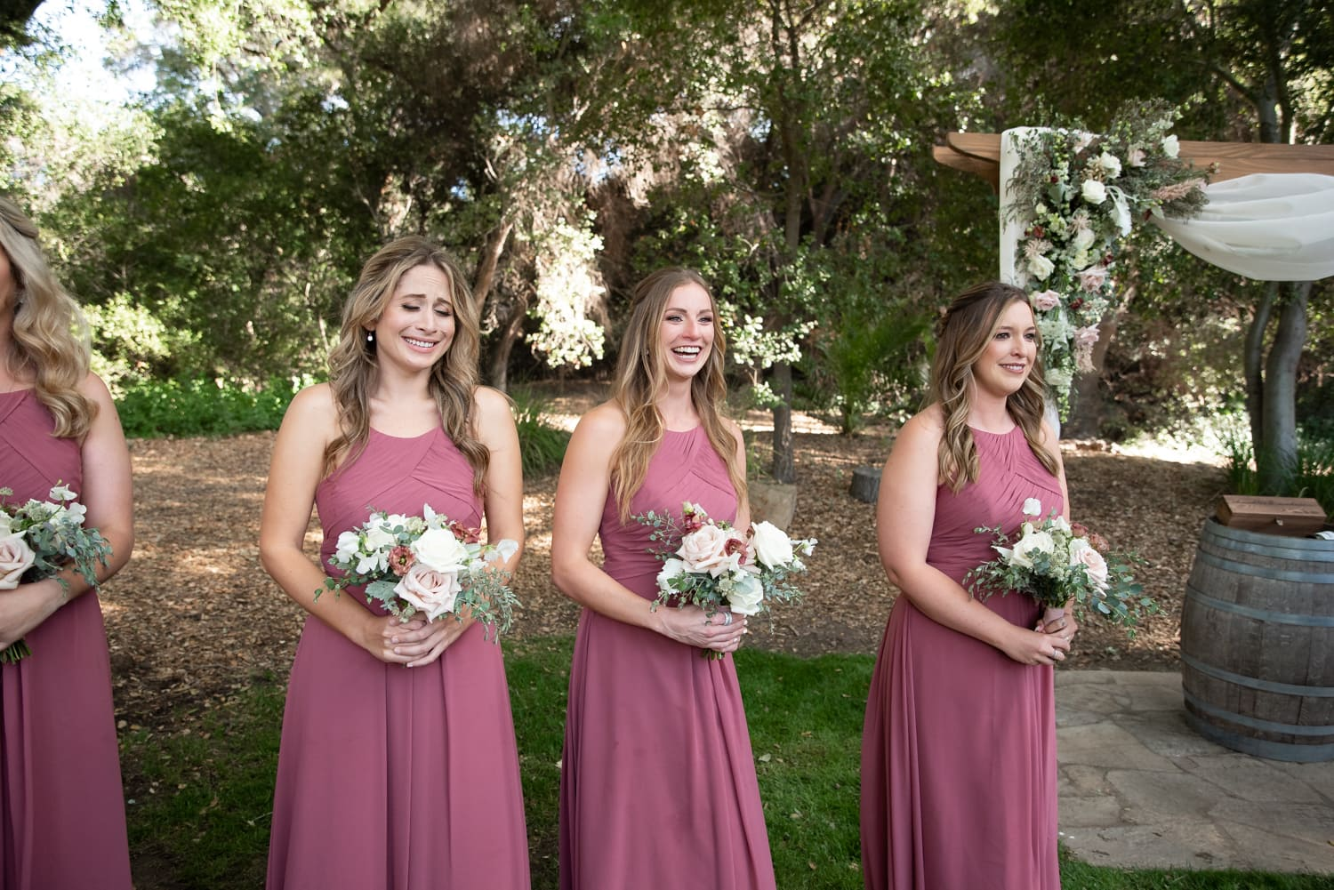 Bridesmaids at The Stone House ceremony