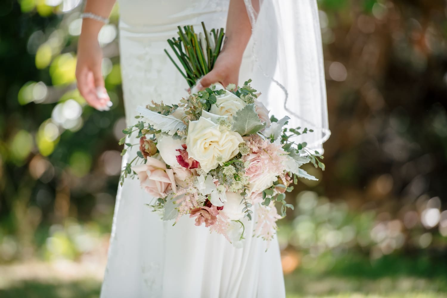 Bridal bouquet for Stone House wedding in Temecula, CA