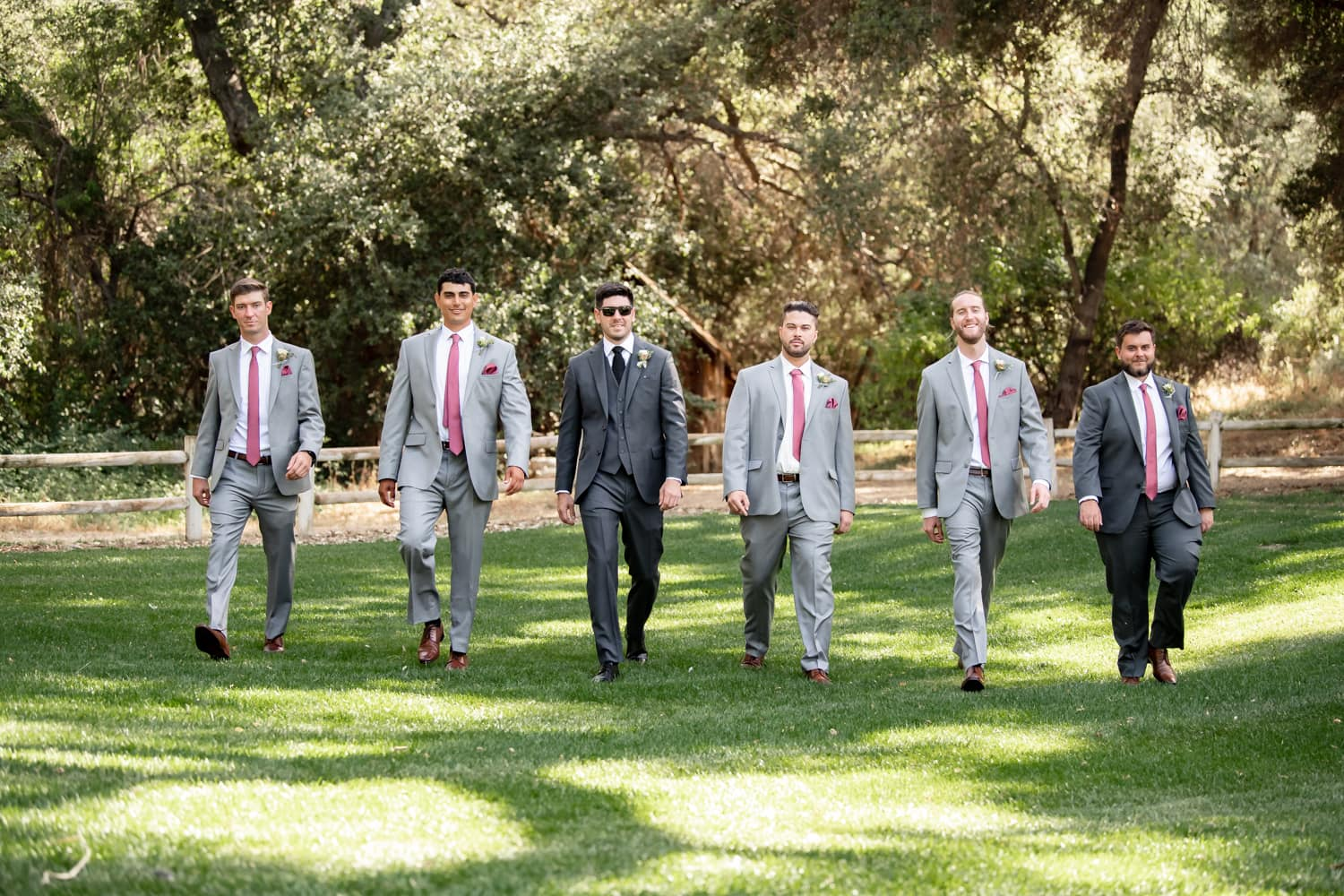 Groomsmen photos at The Stone House ceremony site in Temecula, CA